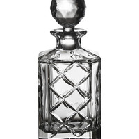 Crystal Plaid Square Decanter by Hewson at Gilt