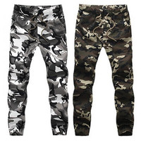 XS-3XL 2016 Mens Jogger Autumn Pencil Harem Pants Men Camouflage Military Pants Loose Comfortable Cargo Trousers Camo Joggers [9222378116]