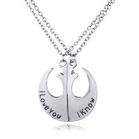 Stylish Jewelry Shiny New Arrival Gift Fashion Accessory Starwars Couple Pendant Necklace [7831830727]