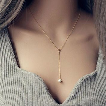 womens pearl pendant necklace gift 111  number 1