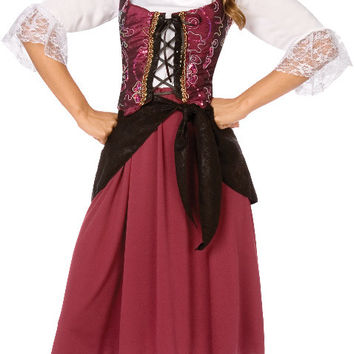 Burgundy Pirate Wench Adult Costume - (6/8)