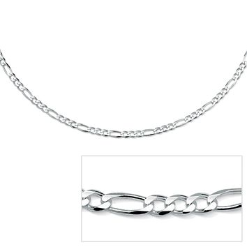 """Figaro-Link Chain in Sterling Silver 20"""""""
