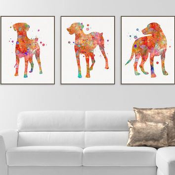 Hound Dog Art, Watercolor Hound, Set of 3 Prints, Hound Print, Hound Wall Decor, Dog Lover Gift, Hound Painting, Hound Poster, Gift Idea