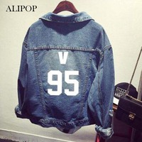 Youpop KPOP BTS Bangtan Boys 7 Member Album Denim Jacket K-POP Casual Jeans Coat 2017 New Fashion Design For OutWear JK007