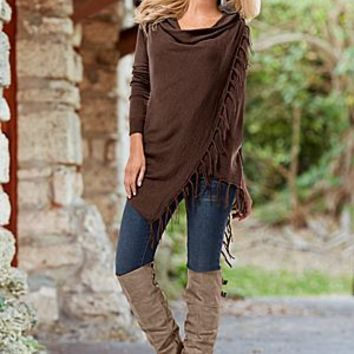Pinned Fringe Cardigan