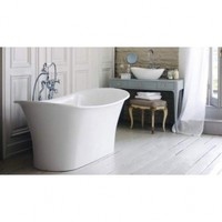 Victoria and Albert TOU-N-SW Toulhouse White Free Standing Bathtub 70 1/2 x 31 1/2 x 24 1/2 x 31 1/2