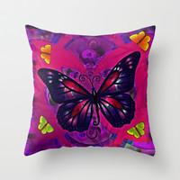 Mariposas Throw Pillow by Mittelbach Marenco Florencia
