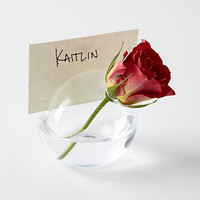 Glass Bubble Place Card Holder