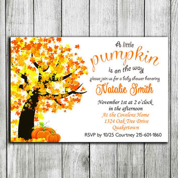 Printable Fall Baby Shower Invitations Template Fall baby Thanksgiving baby shower invitation November baby shower invitation fall baby