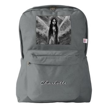 La Luna Dark Angel Fairy Woman Goth Fantasy Art Backpack