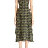 Victoria Beckham Strapless Houndstooth Dress | Nordstrom