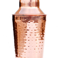 Hammered Copper Cocktail Shaker