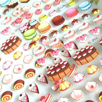 Cake time lovely Dessert macarons Slice of cake Baking Time bakery shop cute sticker Handmade cake colorful mini cake cooking recipes icon