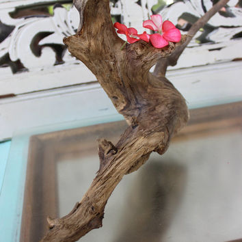 Free Standing Driftwood Sculpture , Natural Decor , Beach Decoration , Surf Tumbled Coastal Art