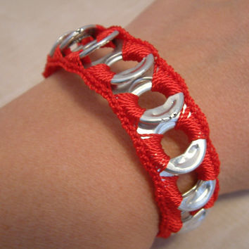 ReCycladelic Pop Top Bracelet Heart Beat Red crimson by lanmom