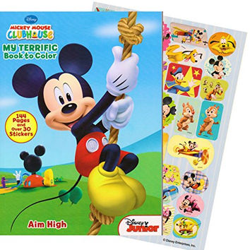 Disney Mickey Mouse Giant Coloring Book with Stickers (144 Pages)