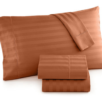 Charter Club Damask Stripe Sheet Sets, 500 Thread Count 100% Pima Cotton, Only at Macy's