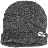 neff Men's Fold Heather Beanie, Black/White, One Size