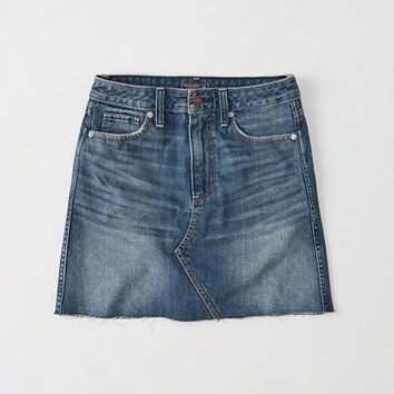 Womens High-Rise Denim Mini Skirt | Womens New Arrivals | Abercrombie.com
