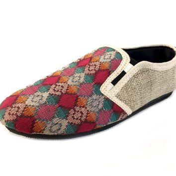 Mato Dhaka Pattern AlloShoes Slip On
