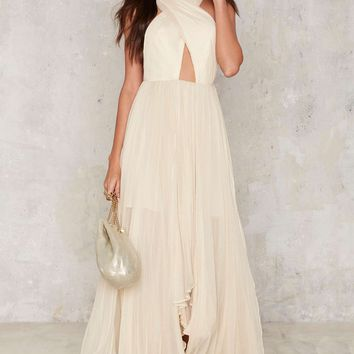 Nasty Gal Collection Ivory Reina Maxi Dress