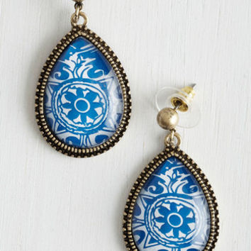 ModCloth Delft of Possibilities Earrings