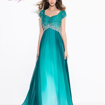Dreagel New Arrival Elegant Sweetheart Short Sleeves Prom Dress Luxury Crystal Beaded A-line Chiffon Party Gown Vestido De Festa