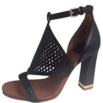 Tory Burch 40024 Doris 100MM Sandal Black, Size 6.5