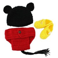 Boy Mouse Knit Hat Outfit - CCA66