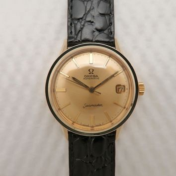 Mens Vintage 1966 OMEGA Seamaster Automatic Wristwatch 14KGF Cal.560 17 Jewels