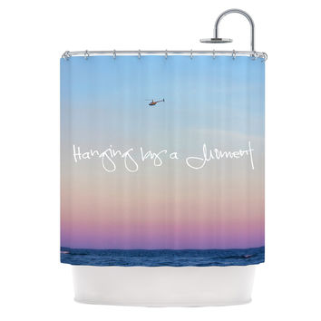 "Beth Engel ""Hanging By A Moment"" Sky Blue Shower Curtain"