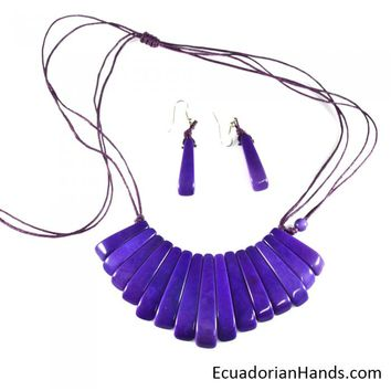 Necklaces And Earrings - Handmade Eco Ivory Tagua Jewelry