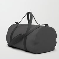 Midnight Black Duffle Bag by spaceandlines