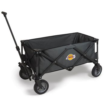 Los Angeles Lakers - 'Adventure Wagon' Folding Utility Wagon by Picnic Time (Dark Grey)