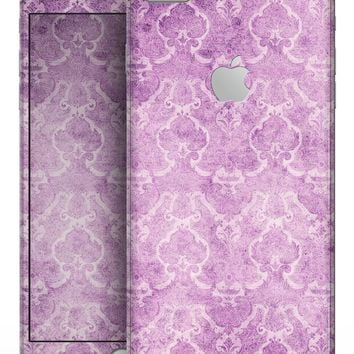 Purple Watercolor Inflated Damask Pattern - Skin-kit for the iPhone 8 or 8 Plus