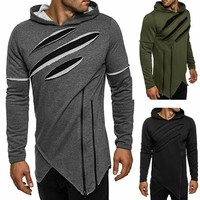 Long Sleeve Men Fashion Stylish Pullover Hoodies [10669399619]
