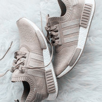 "Trending ""Adidas"" NMD_R1 Primeknit Vapour Fashion Running Sports Shoes Khaki"