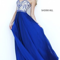 Long Strapless Prom Dress by Sherri Hill