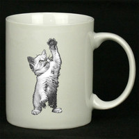 Kitten High Five For Ceramic Mugs Coffee *