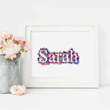 Custom Quilled Name, Personalized Gift For Couple, OOAK Gift, Gift For Women Men, Custom Decor, Paper Quilled Wall Art, Frame Sold Separate