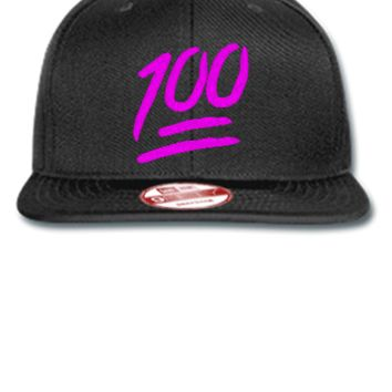 100 emojie pink Bucket Hat - New Era Flat Bill Snapback Cap