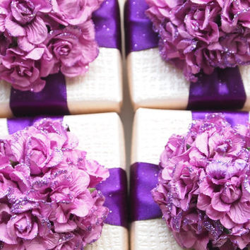 Wedding Favors Purple, Customized Favors Ivory Blue Pink Fuchsia, Ring Jewelry Box Party Favor,  Bridesmaids Gifts
