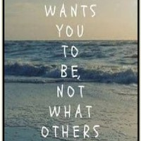 Be who God wants you to be, not what others want to see - Sea - Bible verse IPHONE 5C black plastic case / Christian Verses