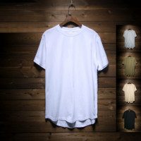 Print Tops Summer Men Short Sleeve Round-neck Korean Cotton Men's Fashion Pullover T-shirts [10474620291]