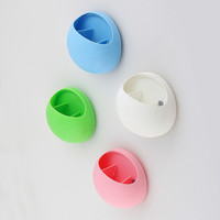 1 pc Cute Toothbrush Toothpaste Holder with Suction Cup Bathroom Kitchen Wall Mounted Organizer Storage Box banheiro NVIE