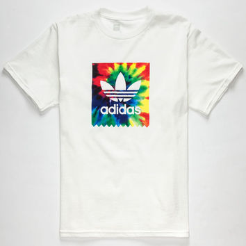 Adidas Tie Dye Blackbird Boys T-Shirt White  In Sizes