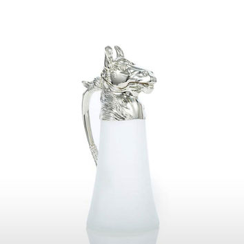 Silver & Frosted Glass Wine Jug, Pitchers & Carafes
