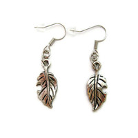 Leaf Earrings Plant Earrings Nature Lovers Gift Leaf Jewelry Leaf Jewelry Nature Earrings Nature Jewelry Nature Earrings
