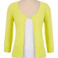 3/4 sleeve button front cardigan