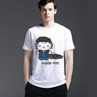 Fashion Pattern Tee Summer Cartoons Casual Cotton Short Sleeve Men's Fashion T-shirts = 6451357123
